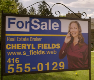 I hope after wrap, art department takes these realtor signs and sticks them in random peoples' yards.