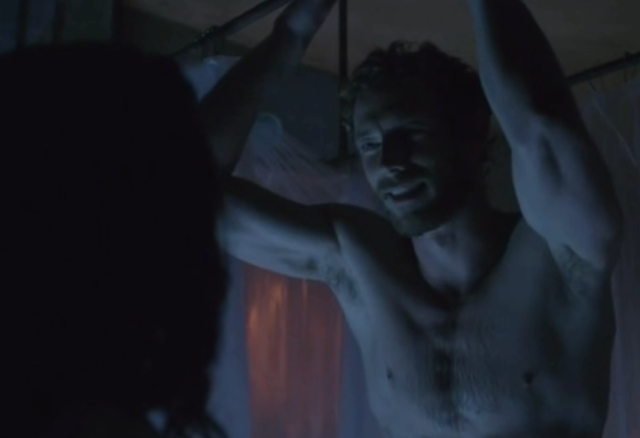 'Ok we wrote ourselves into a corner, but really need a naked Kris Holden-Ried in the shower . . . DREAM SEQUENCE!'