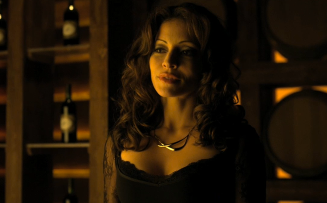 The fantastic thing about Emmanuelle Vaugier is, no matter what absurd way they find to sexualize the Morrigan, you always get the feeling she's fetishizing everyone else in the room far more.