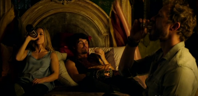 If you want to know exactly how I prepped for my friend Dale giving me my first tattoo, this scene (and Vex especially) is pretty much it. Mix all the liquors! Make all the jokes to steel one's nerve!